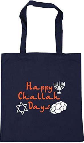 Days French Bag x38cm Navy HippoWarehouse Gym Shopping 10 Happy 42cm Beach Tote Challah Hanukkah litres wxpEOpqZ