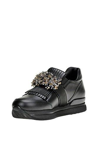 MCGLCAK04025I Negro Hogan Zapatillas Mujer Cuero SvZwAq