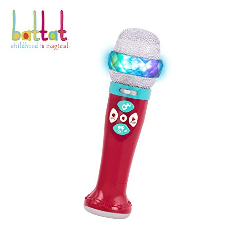 Battat - Musical Light Show Microphone - Light-Up Sing-Along Mic with 5 Songs and Record Functions for Kids 2 Years + (Bluetooth)