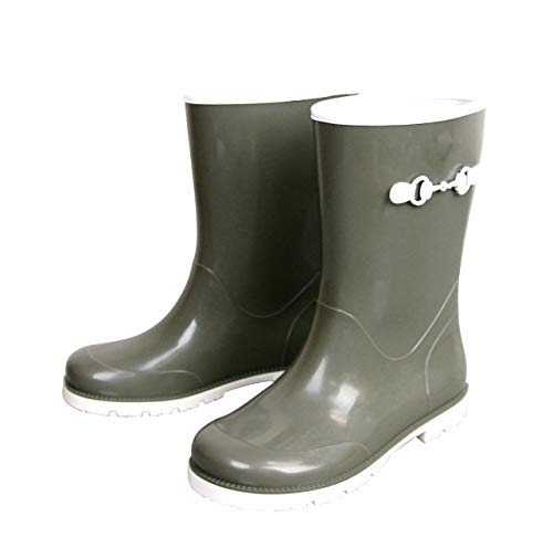 - Gucci Kids Childrens Rain Boot with Horsebit 285287 285288 (28 G / 11 US, Green)