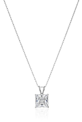 Princess Cut Swarovski Zirconia Pendant Necklace