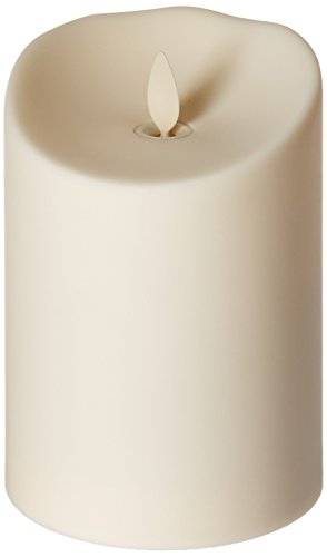 Luminara Flameless Outdoor Pillar Candle, Unscented Ivory 5 in.