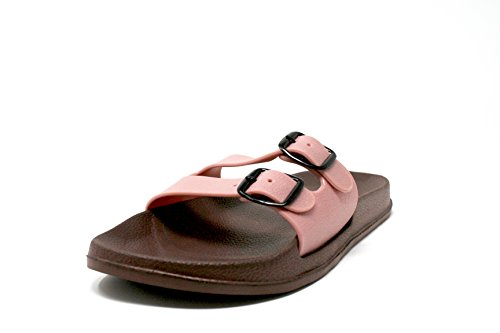 THIKKO Womens Arizona EVA Sandals Double Buckle Waterproof (6 D(M), (Arizona Slides)