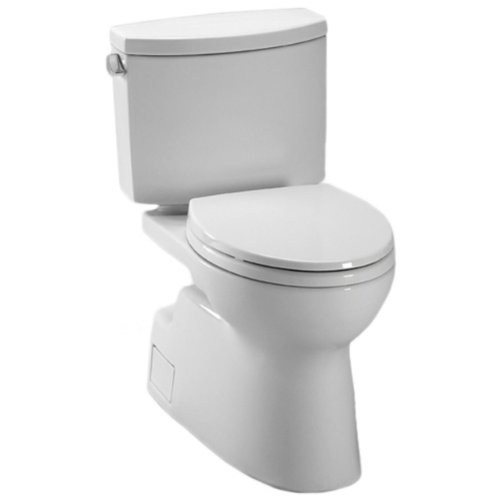 The Toto Vespin II Is A Two Piece Toilet With An Elongated Bowl Shape And Universal Seat Height Combined Chrome Trip