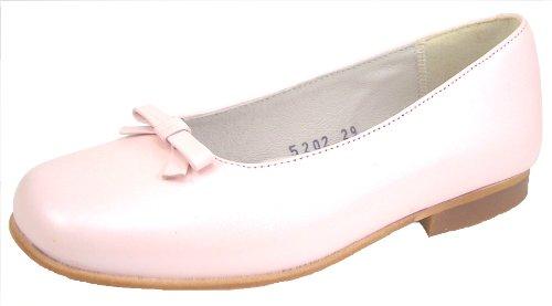- De Osu Pink Pearlized Leather Dress Flats B-5202 (Little Kid/Big Kid)