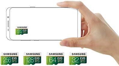 SAMSUNG ELECTRONICS EVO SELECT 256GB MICROSDXC UHS-I U3 100MB/S FULL HD & 4K UHD MEMORY CARD WITH ADAPTER (MB-ME256HA)