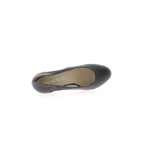 Scarpe donna pizzo aperto grande nero 9,5 cm tacco
