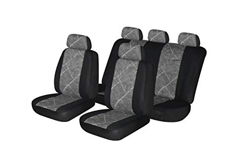 Autonise Universal fit Classic Sport Bucket seat Cover (Fit Most Car,Truck, SUV, or Van with headrest) Airbag Compatible (Cotton Gray, Full ()
