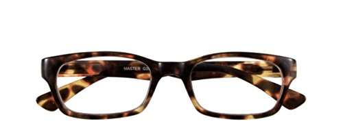 Master Glass Pro (I Need You Readers Havana Master Rectangular Reading Glasses +1.00 Strength or Choose Your Power)