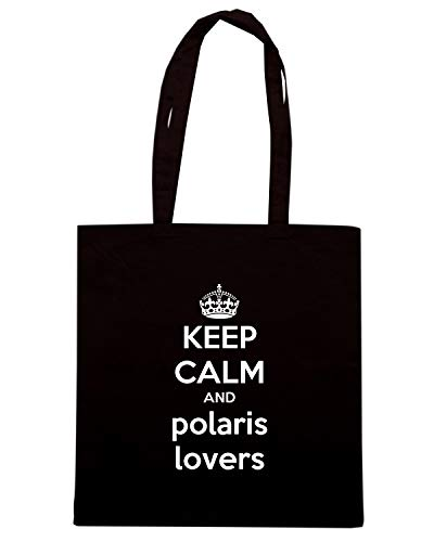 Speed Shirt Borsa Shopper Nera TKC3190 KEEP CALM AND POLARIS LOVERS