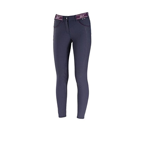 B Vertigo Xandra Women's Quick Dry Ice Fit BVX Silicone Full Seat Breeches Dark Navy 26 ()