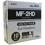 FDI35-AW 10 pieces ALLWAYS 3.5-inch floppy disk media 1.44MB (japan import)