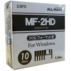 FDI35-AW 10 pieces ALLWAYS 3.5-inch floppy disk media 1.44MB (japan import)