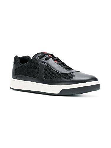 Prada Mannen 4e3166o0vf0002 Zwart Lederen Sneakers