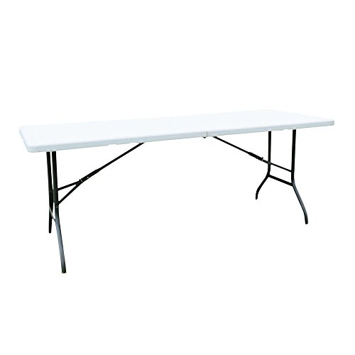 Boylymia Folding Table Portable Plastic Indoor Outdoor Picnic Party Dining Camp Tables, 6