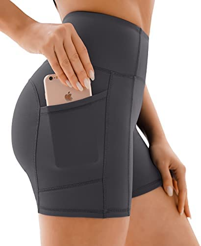 Yoga Shorts for Running Sports Workout Fitness Non See-through Gym leggings Women with Pockets