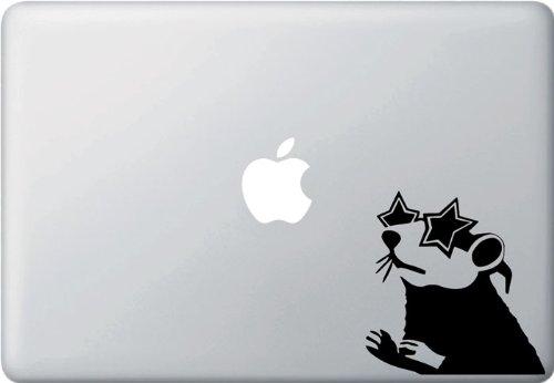 Star Glasses Rat - Banksy Style Laptop or Macbook Vinyl Decal
