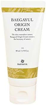 Baegayul Korean Cosmetics Cream Oriental Medicine Skullcap Herbal Natural Skincare Hydrating Moisturizer for Dry Sensitive Warts Moles Troubles Pimples Purify Soothing BAEGAYUL Origin Cream 2.7oz