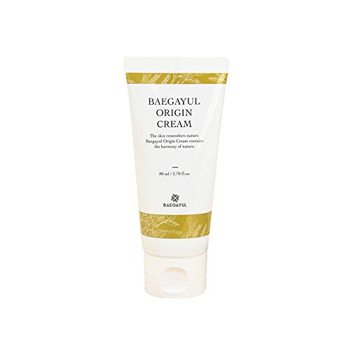 Baegayul Korean Cosmetics Cream Oriental Medicine Skullcap Herbal Natural Skincare Hydrating Moisturizer for Dry Sensitive Warts Moles Troubles Pimples Purify Soothing BAEGAYUL Origin Cream -