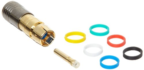 Pin Wiring Watertight (Morris Products 45112 RCA Male Compression Connector with Extra Pin and 6 Color Bands, RG6 Quad Shield)