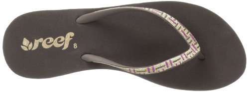 Reef Krystal Star Luxe Damen Sandalen Violett - Violet (Brown/Purple/Go)