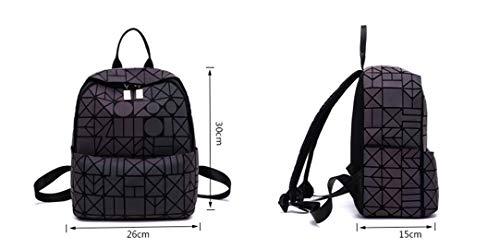 Luminous Viaggio Nottilucenti Zaini Borse Pack Ragazze Zaino Back Per La Scuola D A Bagpack Geometrici Di Le Luminosi Donne Tracolla p7nUxU