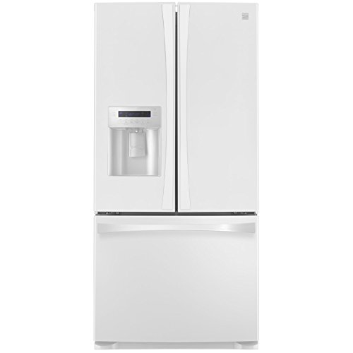 Kenmore 4673132 Wide French Door Bottom Freezer Refrigerator with Dispenser 24.2  cu. ft. White