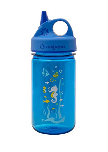 Nalgene Grip-N-Gulp Water Bottle (Blue Seahorse, 12-Ounce) (Best No Leak Water Bottle)