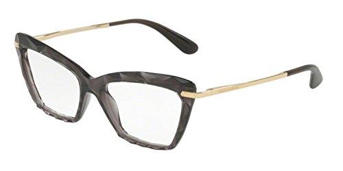 (Dolce&Gabbana DG5025 Eyeglass Frames 504-53 - Transparent Grey DG5025-504-53)