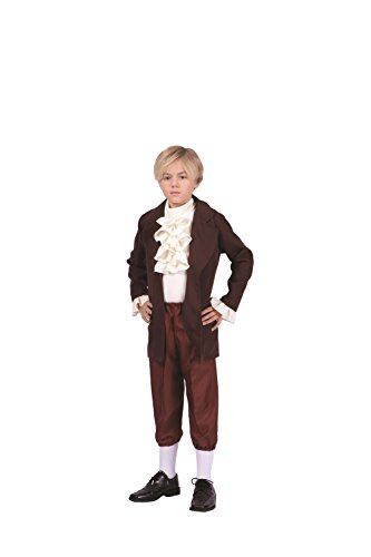 Thomas Jefferson-Child Costume (Child, Brown and Beige) -