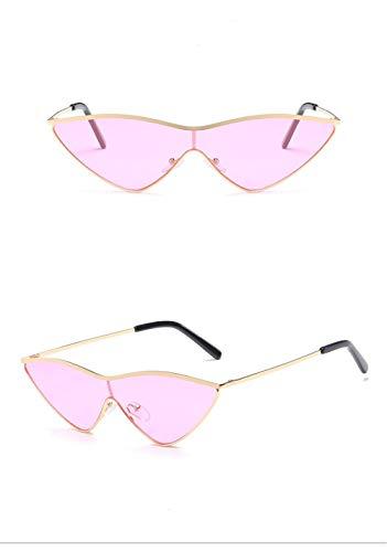 Ligero Rosa Gafas Retro Eye Espejo Lente Gafas para de Gafas Gafas Hombre B Sol Polarizadas Mujer Fliegend Sol Cat UV400 Sol Estuche de de Vintage Súper Unisex wc1R6q7ncU