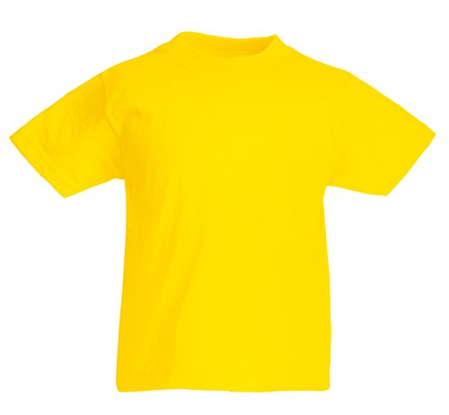 FRUIT OF THE LOOM Kids Original t Shirt Yellow - 5-6