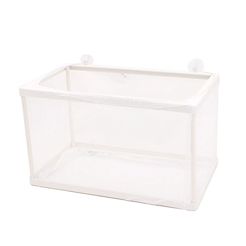 uxcell Aquarium Fish Tank Plastic Floating Isolation Divider Breeding Box Net (Isolation Box)
