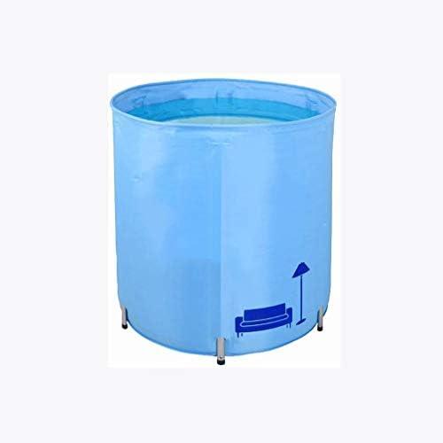 SBWFH ピンクバスタブ - 絶縁折りたたみバスタブ、非膨張合金ブラケットアジャスタブルバスタブ (Color : Blue)