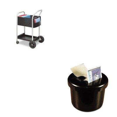 KITLEE40100SAF5238BL - Value Kit - Safco Scoot Mail Cart (SAF5238BL) and Lee Ultimate Stamp Dispenser (LEE40100)