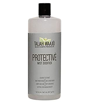 Taliah Waajid Black Earth Natural Protective Mist Bodifier Leave-In Conditioner, 32 oz – Eliminates Breakage Split Ends – Infused with Olive Oil, Wheat Germ Extract Coconut Oil