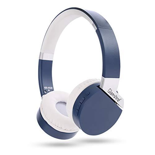 Tmass H10 Bluetooth Headphones Over Ear, 20 Hrs Wireless Headphones, BT 5.0, Tf Card, MP3 Mode, Fm Radio, Comfortable Protein Earmuffs, HiFi Stereo Headset, PC/Cell Phones/TV, Black