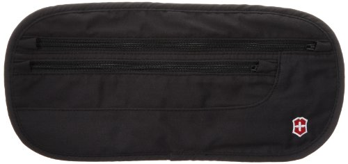 Victorinox  Deluxe Concealed Security Belt,Black,One Size - Deluxe Cotton Black Belt