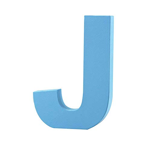Wooden Hanging Wall Letters J - Blue Decorative Wall Letter for Children's Nursery Baby's Room, Baby Name and Girls Bedroom Décor