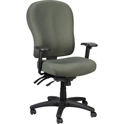 Tempur-Pedic Ergonomic Fabric Mid-Back Office Chair, Black, Fixed Arm TP4000