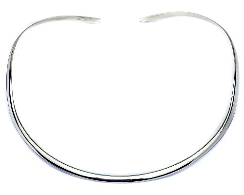 Oxford Diamond Co Plain 4mm Collar Choker .925 Sterling Silver Necklace