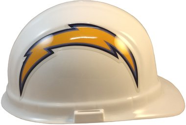 Texas American Safety Company NFL Los Angeles Chargers Hard Hats with Ratchet Suspension 2