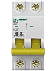 Disjuntor Bipolar Curva C, Alumbra, ALBR 3 39344, Branco
