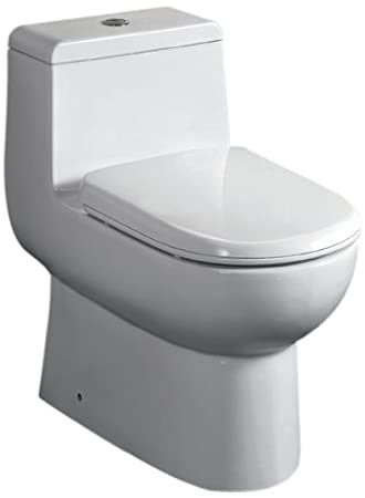 Nice EAGO TB351 Dual Flush Eco Friendly Ceramic Toilet, White, 1 Piece   One  Piece Toilets   Amazon.com