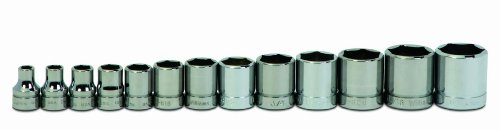 Williams WSB-13HRC 13-Piece 3/8-Inch Drive Shallow 6 Point Socket Set
