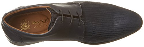 Manz Terni Ago H, Zapatos de Cordones Derby para Hombre Azul (Dunkelblau)