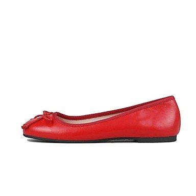 XIAMUO Nicht anpassbar - Die Frauen tanzen Schuhe Leder Leder Ballerinas flachem Absatz Praxis Anfänger professionelle Indoor Outdoor Performance, Khaki, Us7.5/EU38/UK5.5/CN