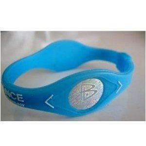 Power Balance Sky Blue/White (XL - Extra Large) (Power Balance White Small)