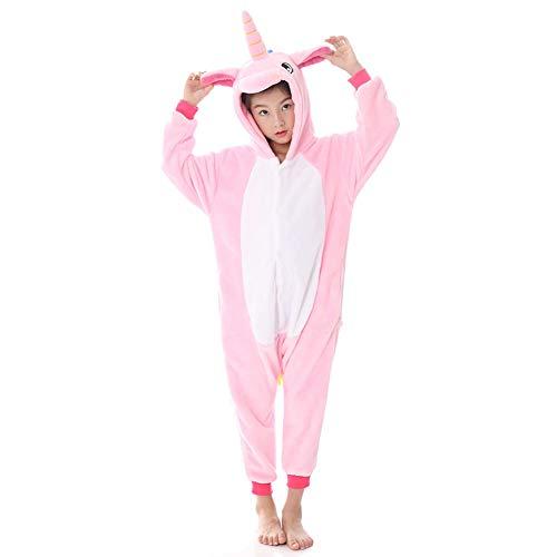 Fesky Children Animal Unicorn Fleece Onesies Dinosaur Onesie Pajamas Costume for Kids Girls Boys Pink -