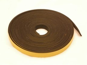 neoprene rubber self adhesive strip 15mm wide x 3mm thick x 10m long rubber products